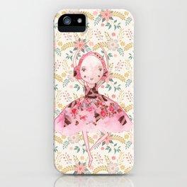 Isabella Bellarina Dancing in Flowers iPhone Case