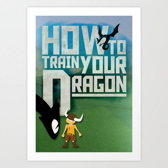 HOW TO TRAIN YOUR DRAGON - Fantasy | Animation | Movie | Fantastic | Childer | Sci-fi Art Print