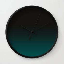 Faded Dark Green Wall Clock