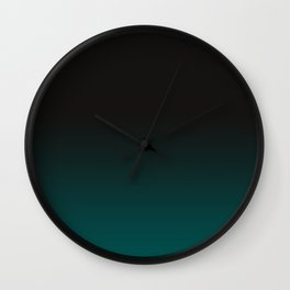 Color Change, Gradation, Forest Green Wall Clock