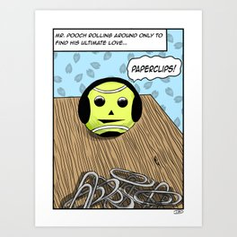 Mr. Pooch (tennis ball adventures) Art Print