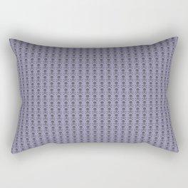 Black and Lavender Skulls Rectangular Pillow