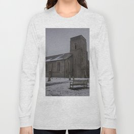 Dunkirk Church In Winter Long Sleeve T-shirt