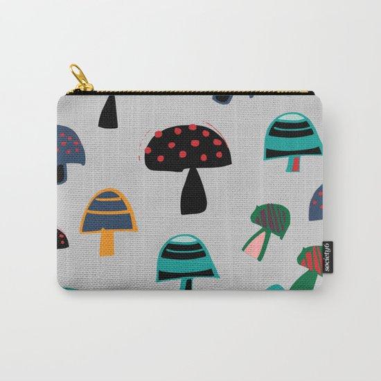Cute Mushroom gray Carry-All Pouch
