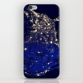 America Night Lights iPhone Skin