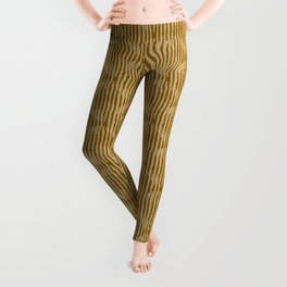 Zen Circles Block Print In Gold Leggings