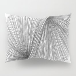 Black and White Mid Century Modern Geometric Abstract Pillow Sham