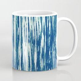 Ikat Streaks in Indigo Coffee Mug