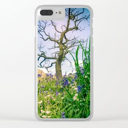 Amongst the Dusty Bluebells Clear iPhone Case
