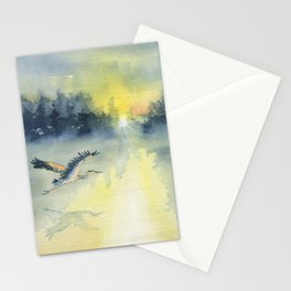 Flying Home - Great Blue Heron Stationery Cards