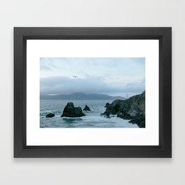 View of Golden Gate Bridge from Sutro Baths Framed Art Print