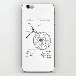 patent art Bell Velocipede fork 1890 iPhone Skin