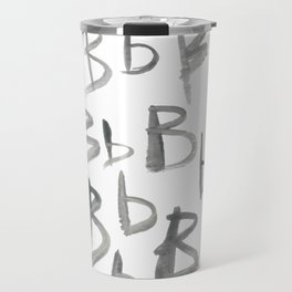 Watercolor B's - Grey Gray Travel Mug