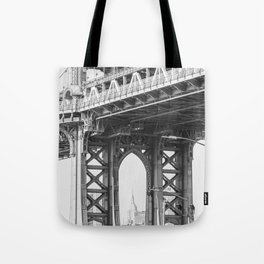 Manhattan Bridge Empire State Tote Bag