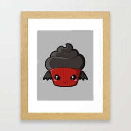 Spooky Cupcake - Vampire Framed Art Print