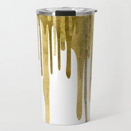Gold paint drips Travel Mug