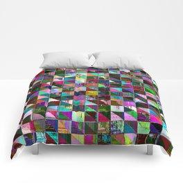 glitch color pattern Comforters