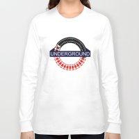 velvet underground Long Sleeve T-shirts featuring UNDERGROUND by Kasım Aliosman