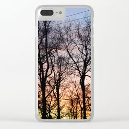 Ranbow Sunset Clear iPhone Case