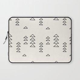 Minimalist Triangle Line Drawing Laptop Sleeve
