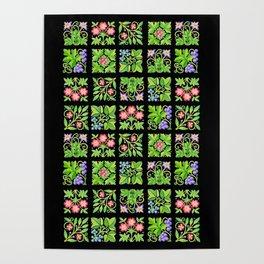 Tudor Flower Parterre Poster