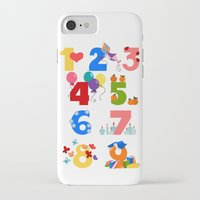 numbers iPhone & iPod Cases featuring numbers by Alapapaju