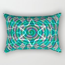 Green spiral abstraction Rectangular Pillow