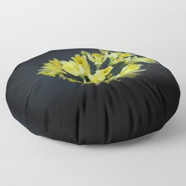 Daffodils Reaching Out Floor Pillow