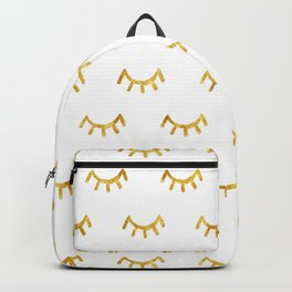 Gold Lashes Backpack