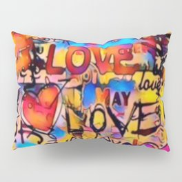 Graffiti Love Pillow Sham