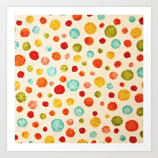 fun little polka dots Art Print