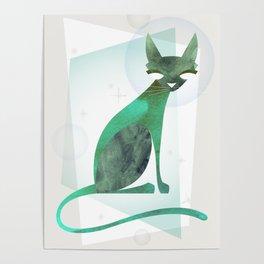 Mid-Century Feline Poster