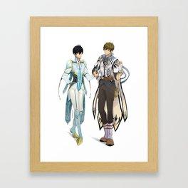 Tales of Iwatobi: Haru and Makoto (MakoHaru) Framed Art Print
