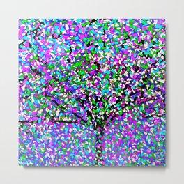 Trees Oil Painting Colorburst Metal Print