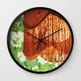 Poetic life: vintage green lampshade Wall Clock