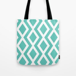 Aqua Diamond Tote Bag