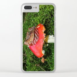 Fly agaric in the moss Clear iPhone Case