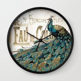 Peacock Jewels Wall Clock