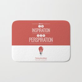 Lab No. 4 - Thomas Alva Edison Quote typography print Inspirational Quotes Poster Bath Mat