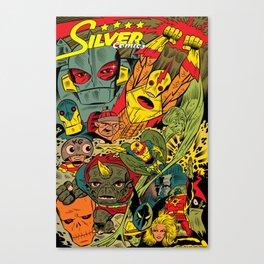 Silver Comics! Canvas Print