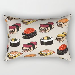 Sushi Pug Rectangular Pillow