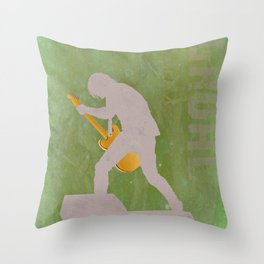 Grohl- Rock Wall 1 of 16 Throw Pillow