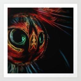 Cat's Eyes Crystal Ball Art Print
