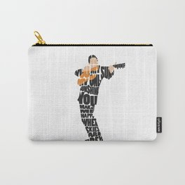 Typography Art of  The Man in Black Johnny Cash Carry-All Pouch