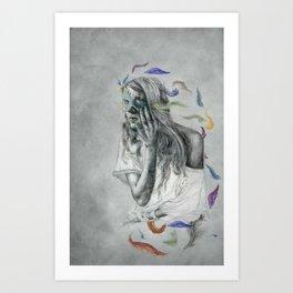 Floats Away Art Print