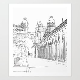 Pont de Bir-Hakeim - Paris, France Art Print