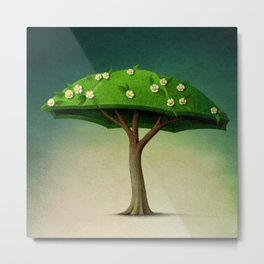 A umbrella  single flowering tree Metal Print