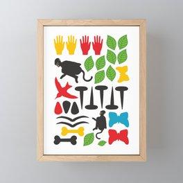 Frida Cutout Pattern Framed Mini Art Print