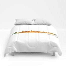 Vancouver Canada City Skyline Hq v01 Comforters