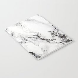 White Marble Texture Notebook